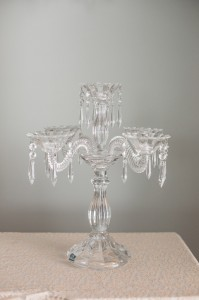 Five Tier Crystal Tabletop Candelabra Image