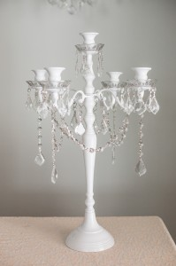 Five Tier White Candelabras Image