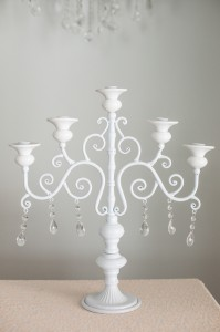 White Metal Candle Holders Image