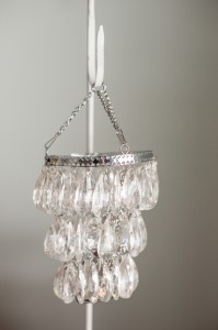 Hanging Crystal Votive Chandelier Image