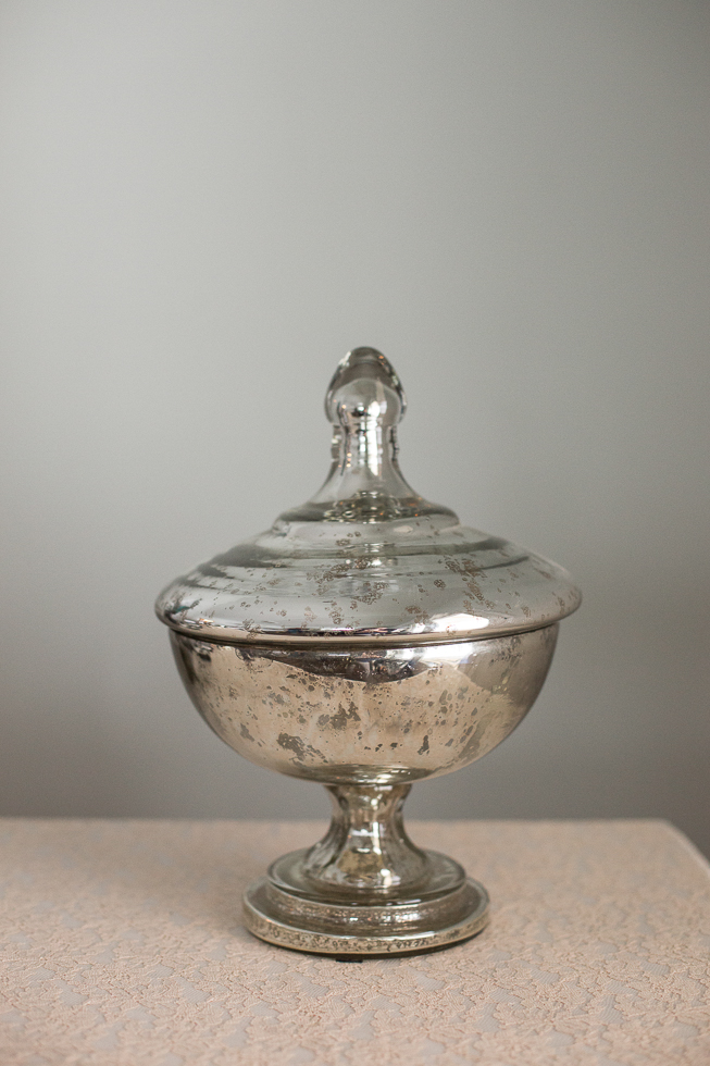 Mercury Glass Urn with Lid Image