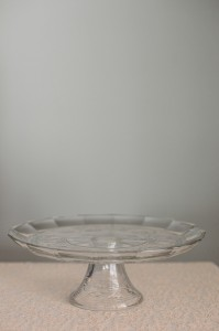 Glass Beveled Cake Stand Image