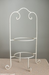 Ivory Wrought Iron Plate Holder Image