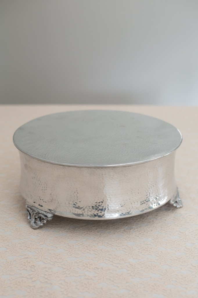 Silver Round Cake Stand Image