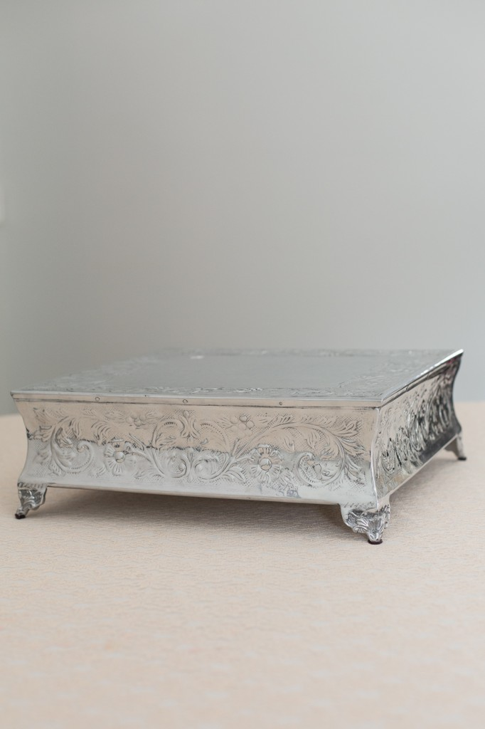 Silver Square Cake Stands Image