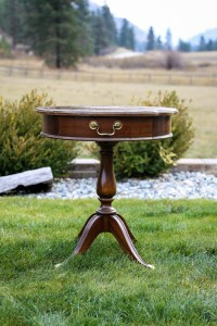 Small Brown Vintage Table Image