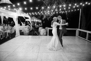 LakeChelanWeddingRentals.com- lights + maple dance floor