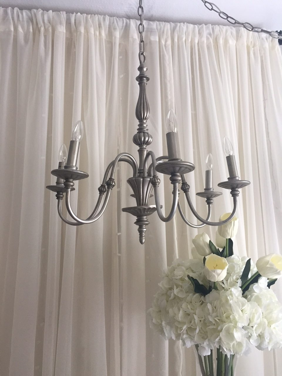 Brushed Silver Chandeliers Image