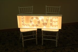 LOVE Marquee Light (Gray) Image