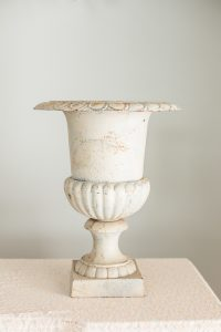 Cream Cast Iron Urns Image