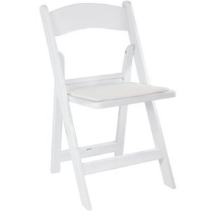 White Resin Folding Chair Image